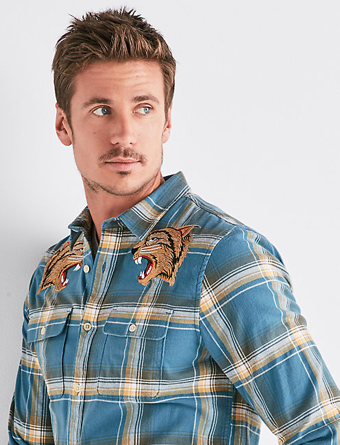 CLEAN EMBROIDERED TWO POCKET WORKWEAR SHIRT,