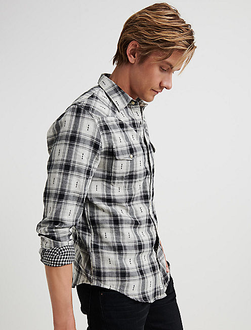 Dobby Plaid Western Shirt