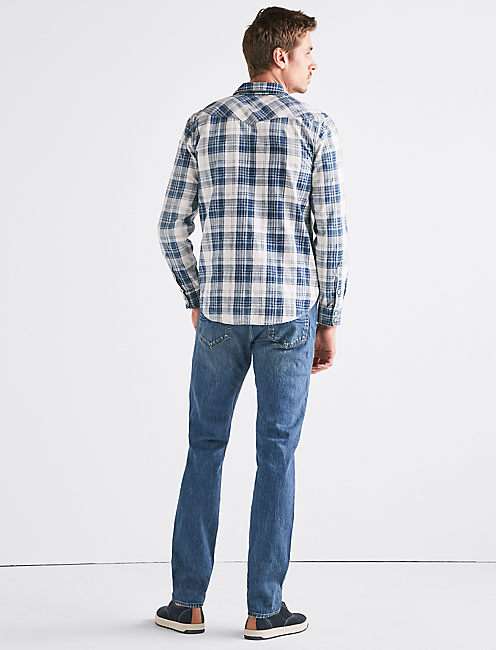 WESTERN STRETCH INDIGO SHIRT,