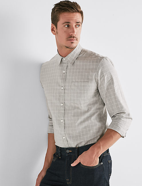 STRETCH OXFORD 1 POCKET SHIRT,