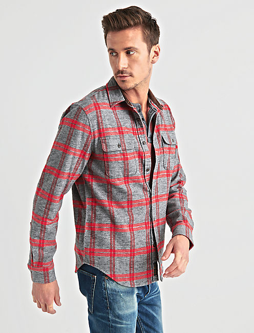 Lucky Long Sleeve Two Pocket Workwear Shirt