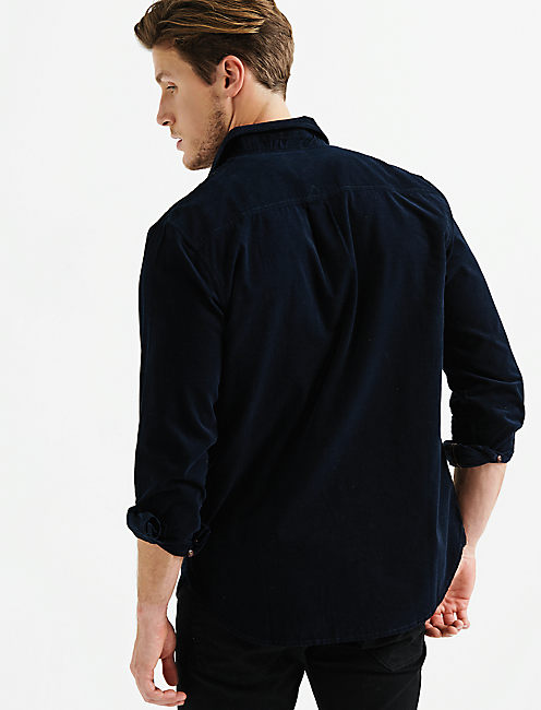 ONE POCKET CORDUROY BALLONA SHIRT,