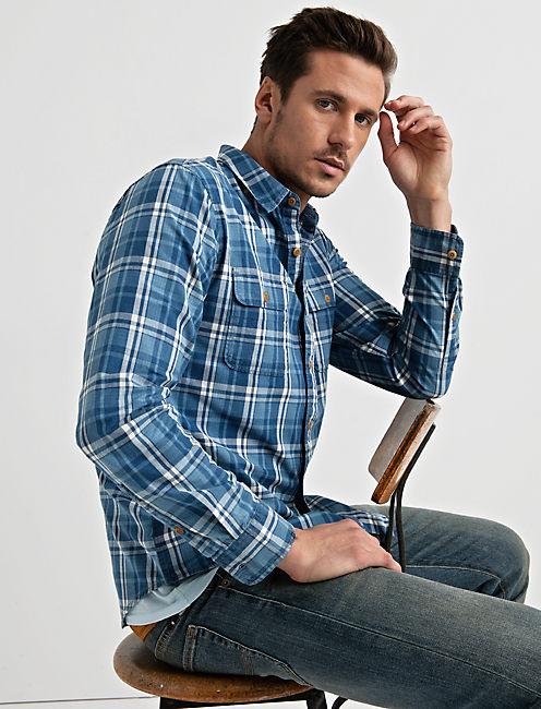 Clean 2 Pocket Workwear, BLUE PLAID
