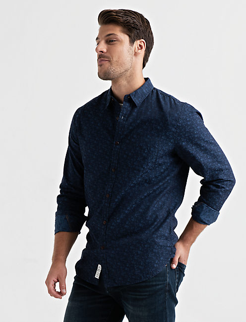 Lucky Jacquard One Pocket Ballona Shirt