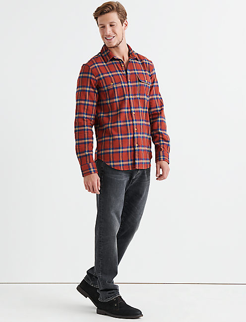 Lucky Stretch Two Pocket Plaid Shirt