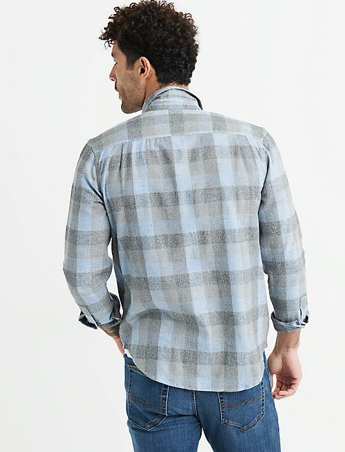 LONG SLEEVE MASON WORKWEAR SHIRT, LIGHT BLUE MULTI