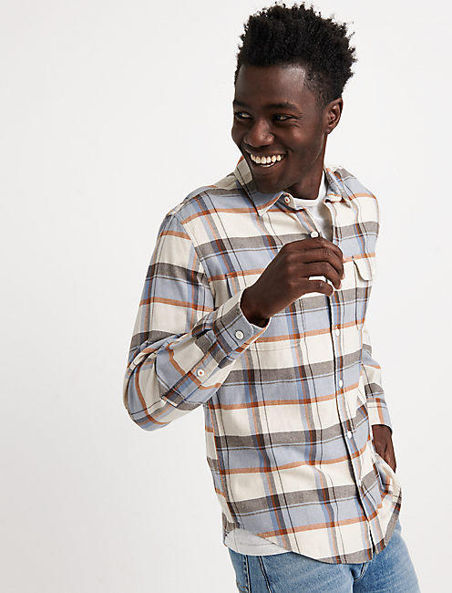 Saturday Stretch Slim Lightweight Flannel