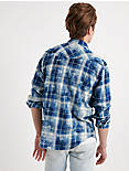 SUGAR MAGIC WASH WESTERN SHIRT, BLUE PLAID