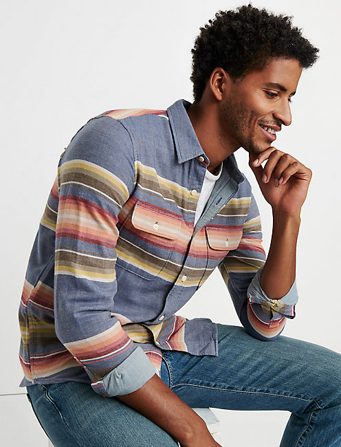 Double Weave Sunset Stripe Shirt