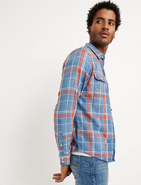 SLIM FIT AXE INDIGO SHIRT,