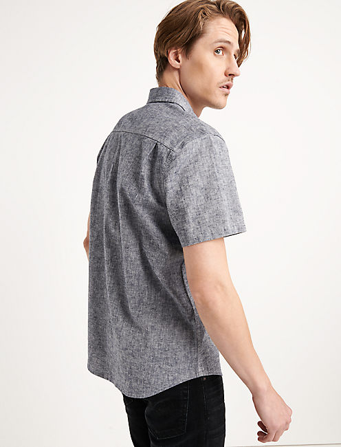 Saturday Stretch Linen Chambray Work Shirt