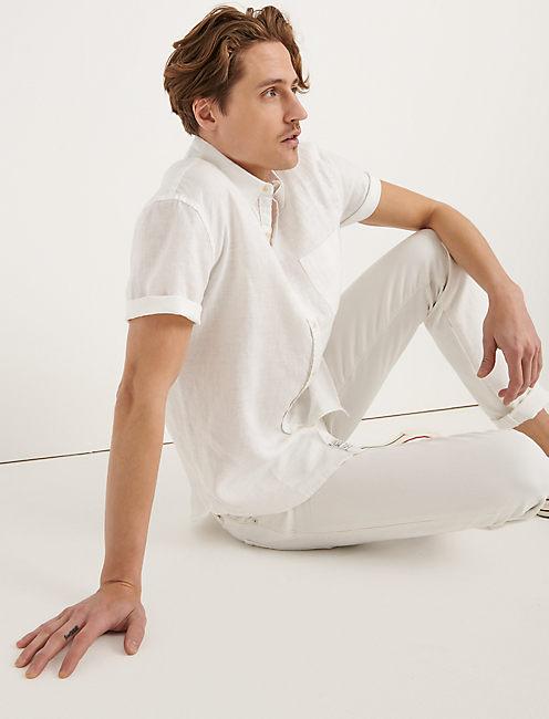 LAGUNA LINEN SHIRT, WHITE