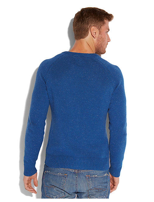 VISTA V NECK SWEATER, TRUE BLUE PANTONE# 19-4057TCX