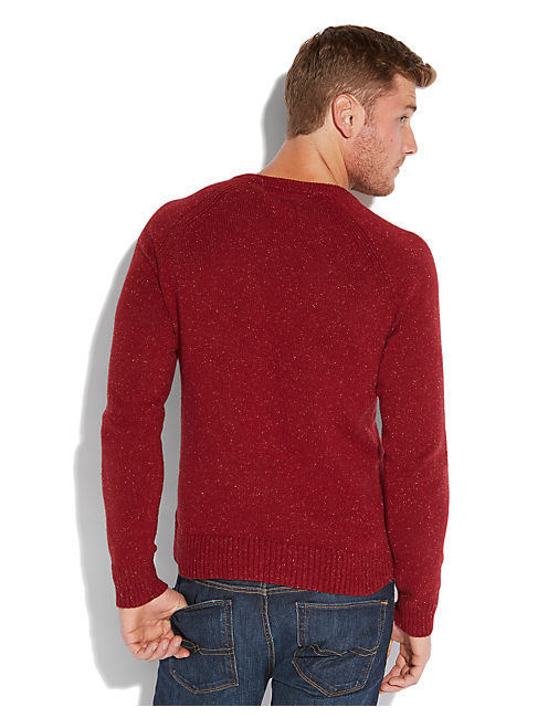 VISTA V NECK SWEATER, RED WINE #6610