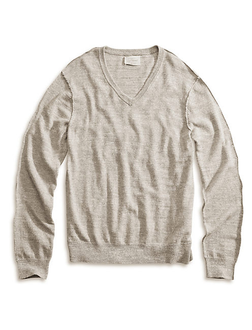 SUMMER V NECK SWEATER, MARSHMALLOW