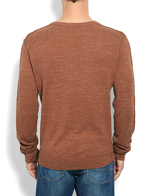 White Label Vneck Sweater, 636 RED