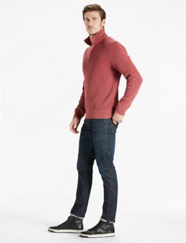 Lucky Half Zip Mock Neck Sweater