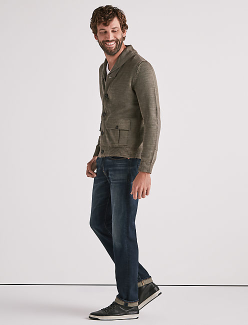 MILITARY SHAWL COLLAR CARDIGAN,