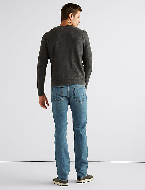 WELTER WEIGHT WASHED HENLEY,