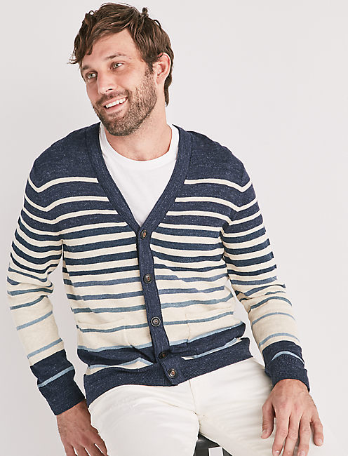 Welterweight Striped Cardigan,
