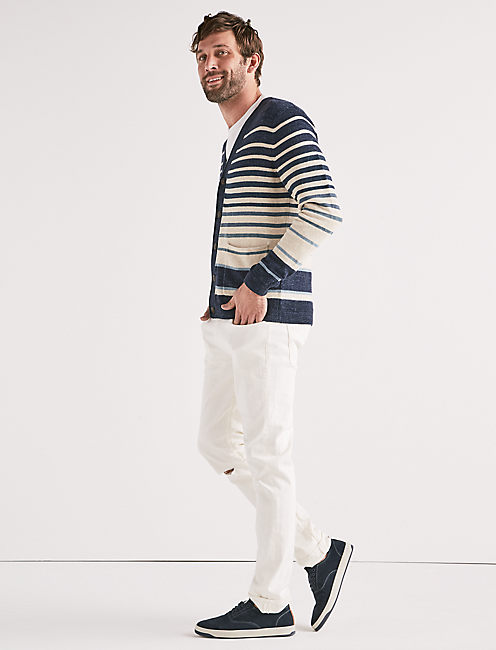 Lucky Welterweight Striped Cardigan
