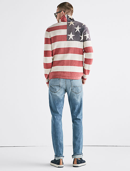 AMERICANA FLAG SWEATER,