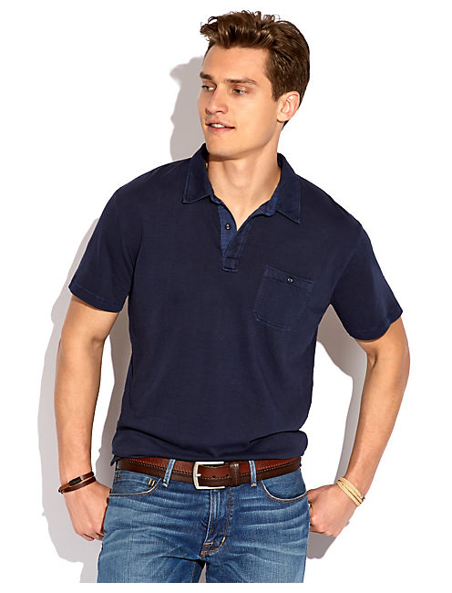 DOUBLE KNIT POLO, AMERICAN NAVY