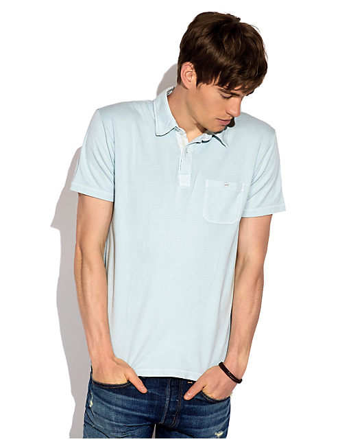 DOUBLE KNIT POLO, STERLING BLUE  #15-4309TCX