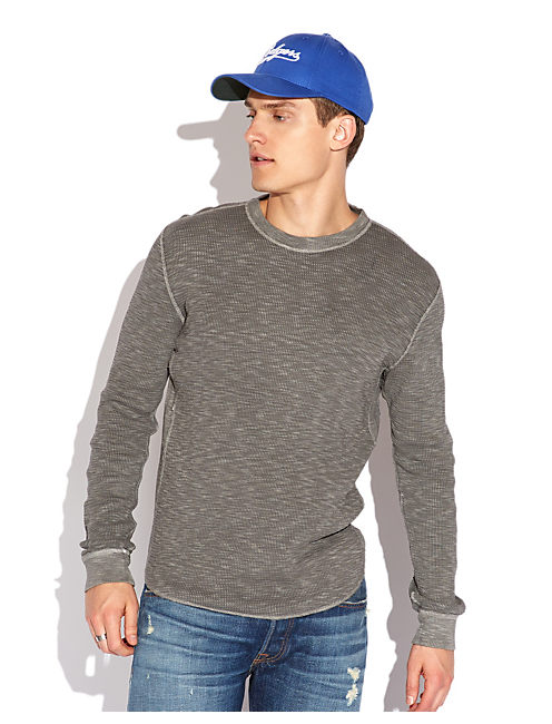 LIVED IN SLUB THERMAL, #1631 CHARCOAL GRAY