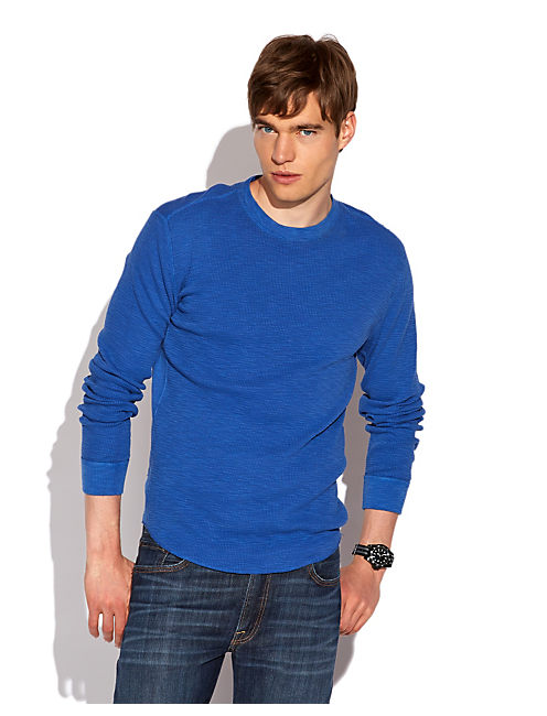 LIVED IN SLUB THERMAL, TRUE BLUE PANTONE# 19-4057TCX