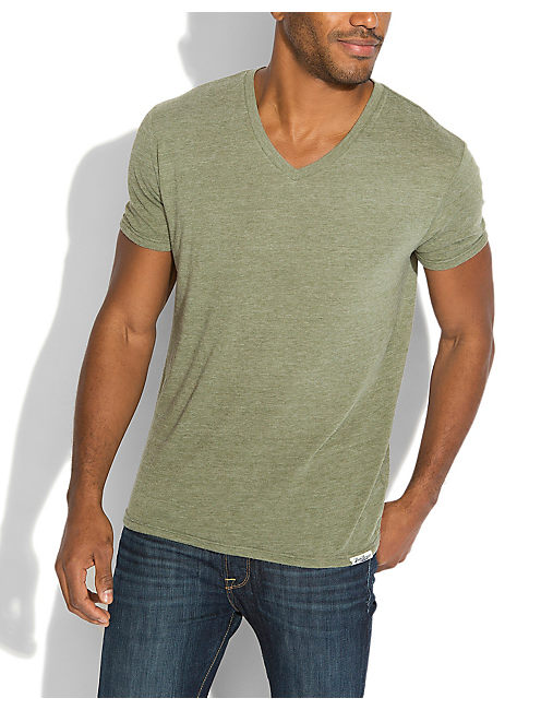 TRIBLEND V NECK, FOUR LEAF CLOVER