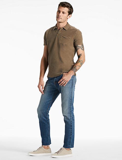 Lucky Short Sleeve Johnny Collar Polo