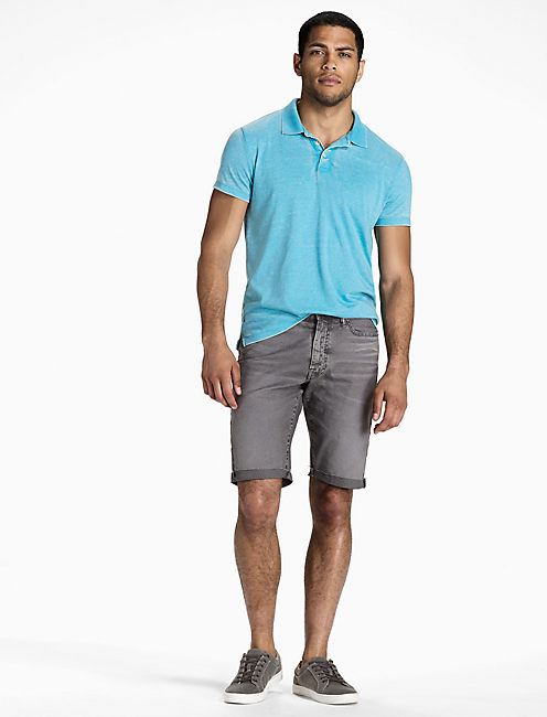 VENICE BURNOUT POLO, DELPHINIUM BLUE