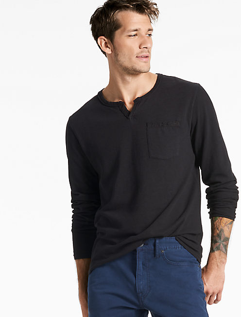 LONG SLEEVE NOTCH TEE,