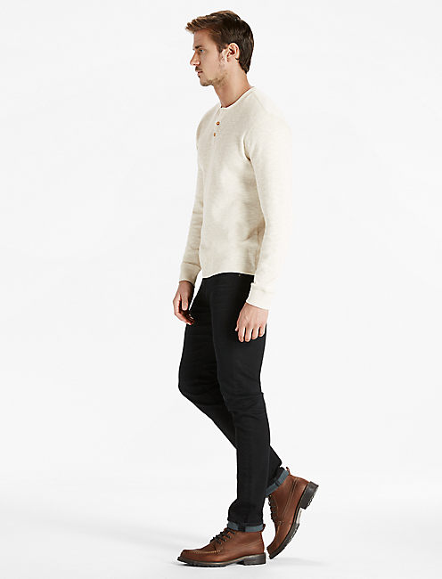 TWISTED SLUB HENLEY, OATMEAL