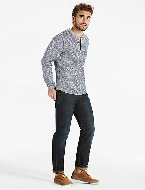 TWISTED SLUB HENLEY, NAVY