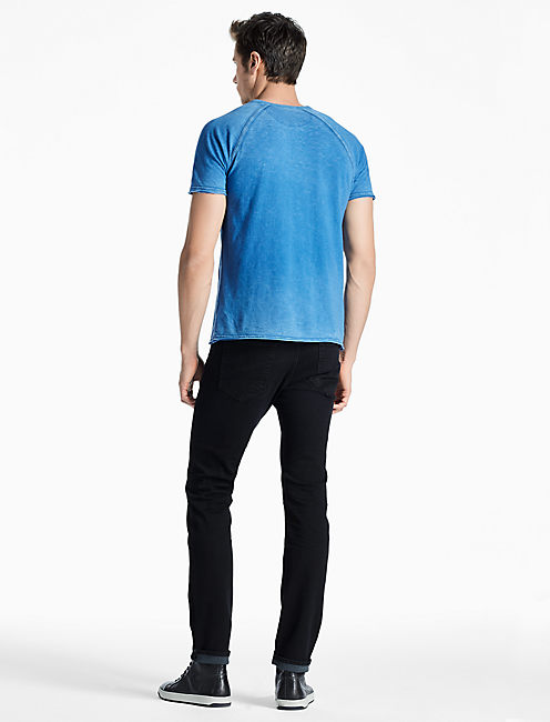 PIGMENT DYED HENLEY, FEDERAL BLUE