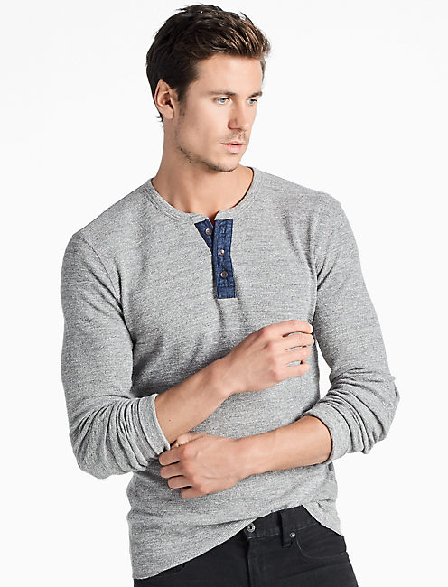 LIVED IN THERMAL HENLEY, HEATHER GREY