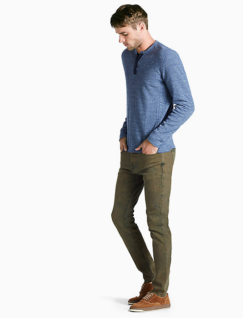LIVED IN THERMAL HENLEY, HEATHER BLUE