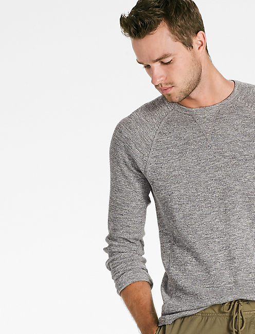 STRONG BOY THERMAL CREW, HEATHER GREY
