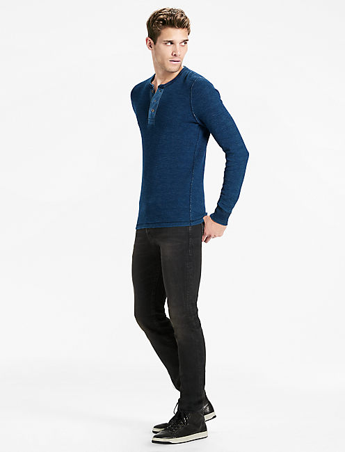 Lucky Indigo Thermal Henley