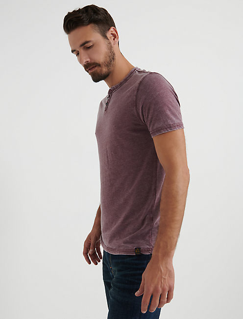 VENICE BURNOUT NOTCH TEE.,