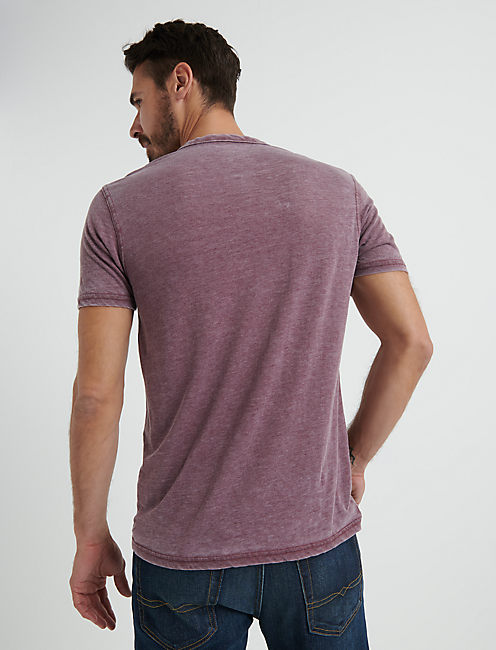 VENICE BURNOUT NOTCH TEE, PORT ROYALE
