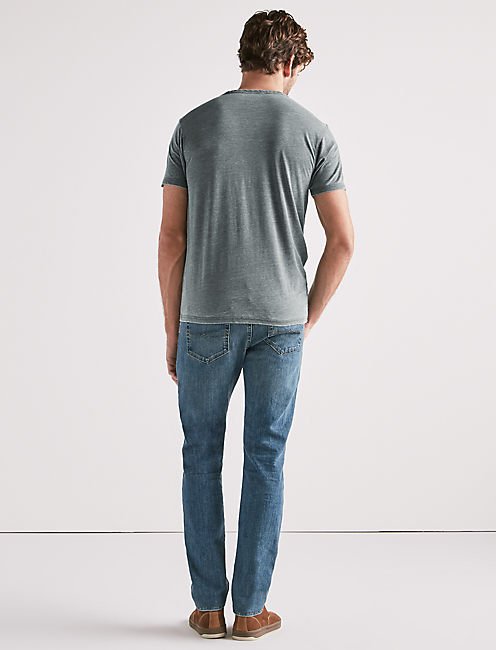 VENICE BURNOUT NOTCH TEE, SYCAMORE