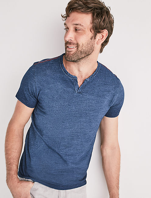 INDIGO NOTCH TEE,