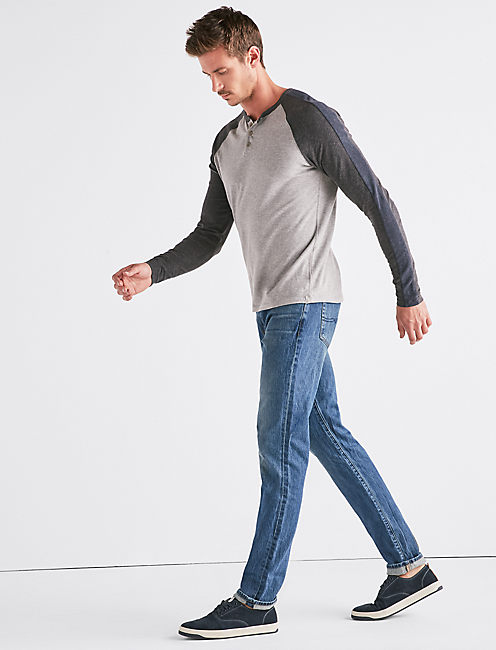 Lucky Saturday Stretch Colorblock Henley