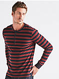 LONG SLEEVE STRIPE HENLEY,