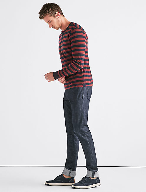 Lucky Long Sleeve Stripe Henley
