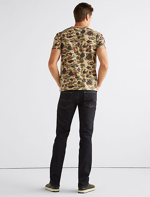 CAMO NOTCH NECK TEE,