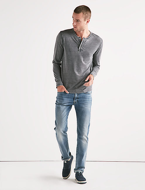 Lucky Venice Burnout Button Henley